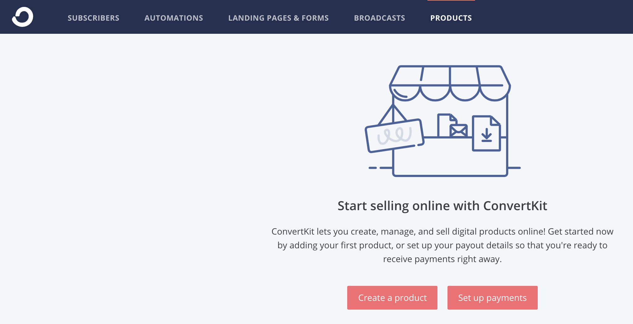 selling a digital product in Convertkit