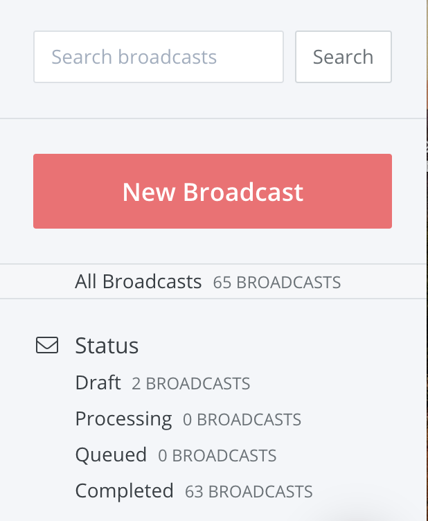 Broadcast in Convertkit